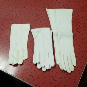 Lot of 3 leather gloves